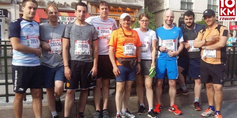 actualité AIGO PROMOTION participe au 10 km l'Équipe
